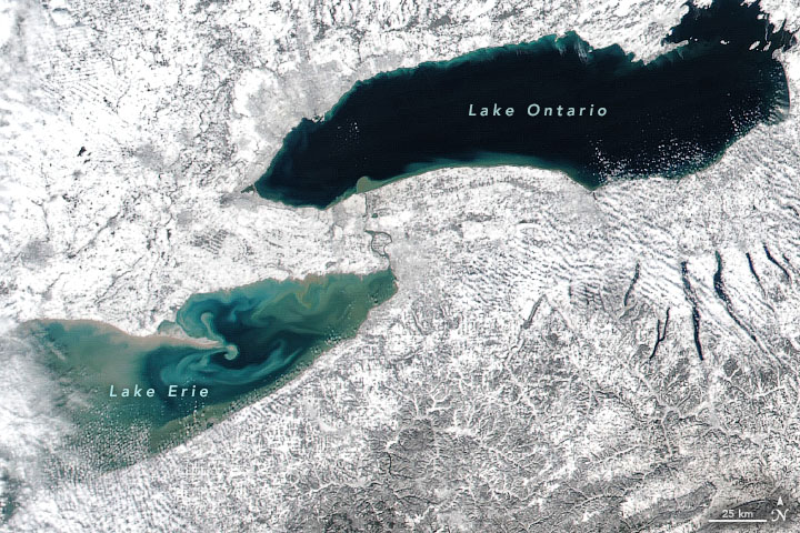East Coast Snow and Lake Erie Color
