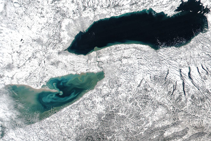 East Coast Snow and Lake Erie Color - selected image