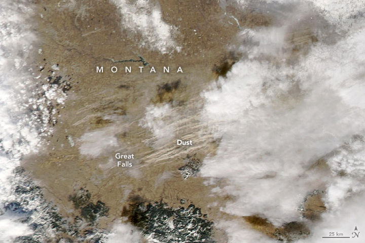 Dust Storm Sweeps Across Montana - related image preview