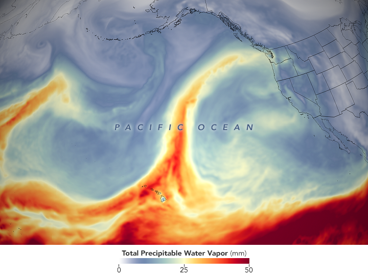 Moisture Pummels the Pacific Northwest