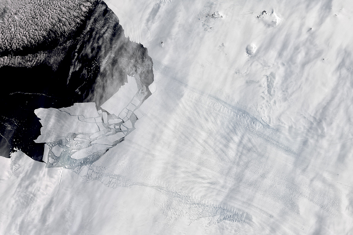 Pine Island Glacier's Newest Iceberg - selected image