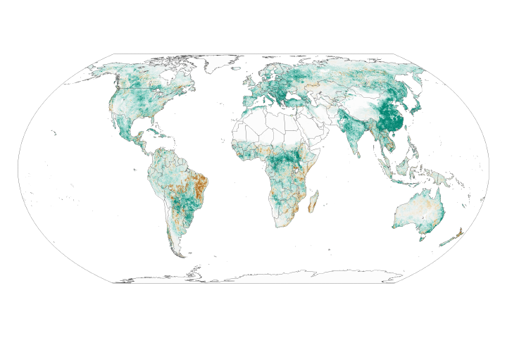 Global Green Up Slows Warming - selected image