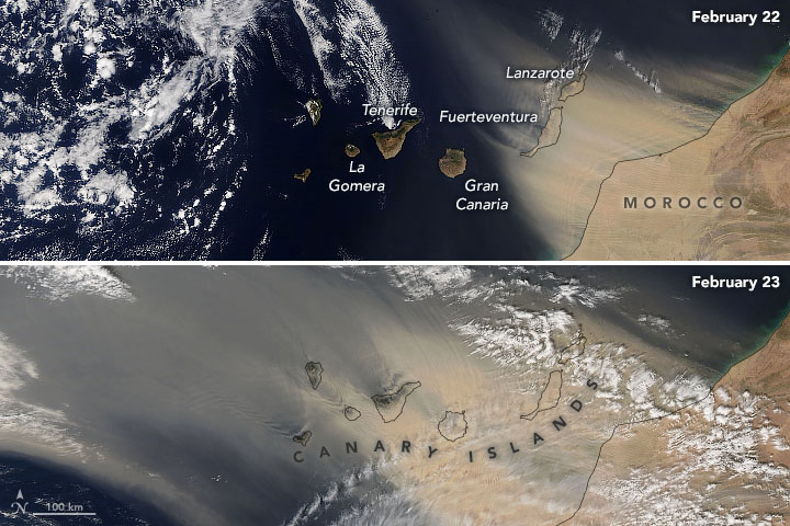 Dust Blankets the Canary Islands - related image preview