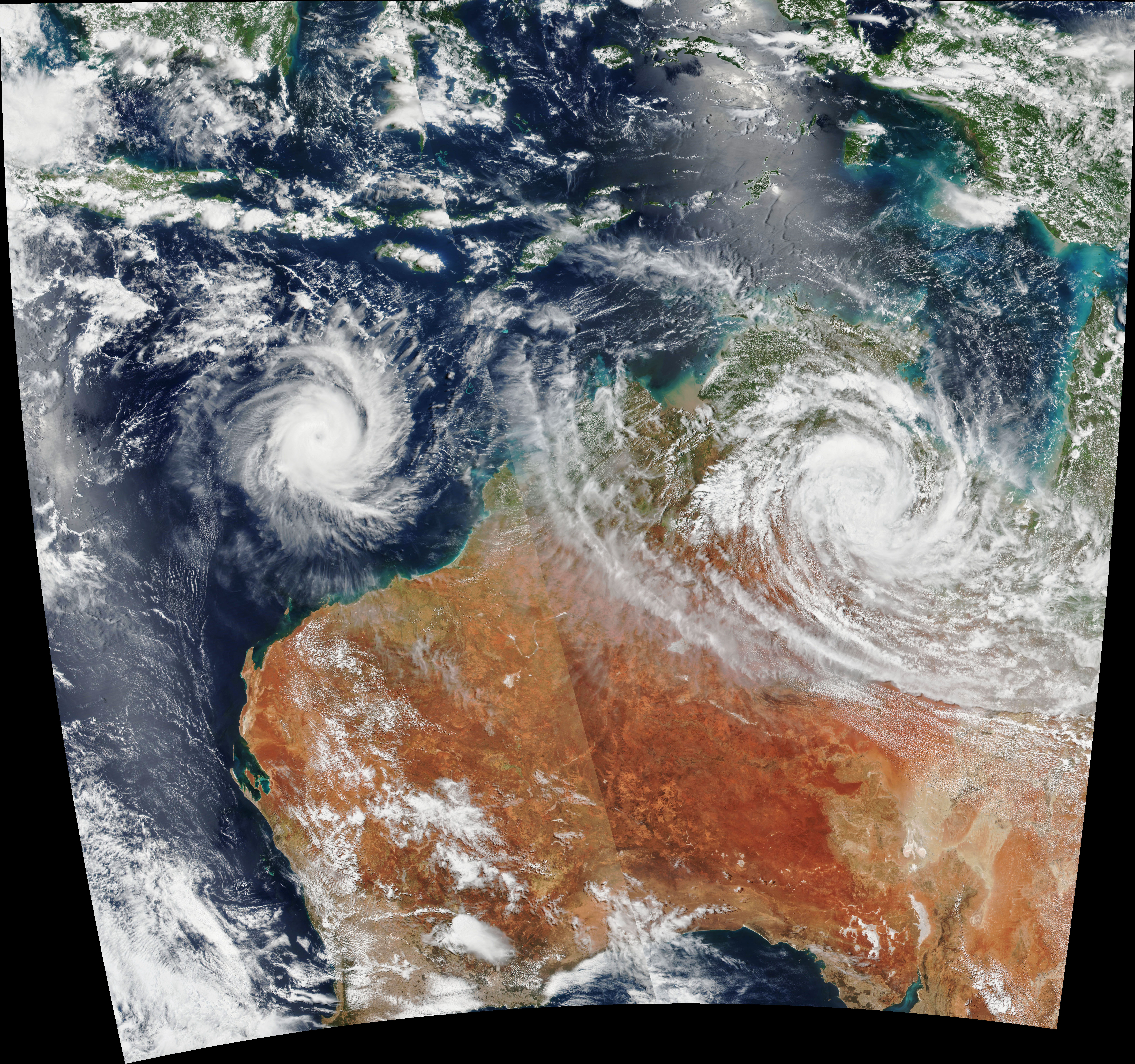 Cyclones over Australia - related image preview