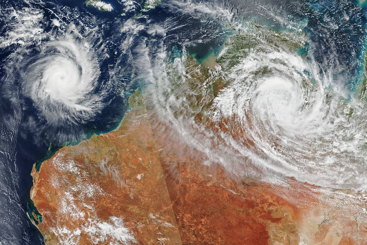 Cyclones over Australia - selected image