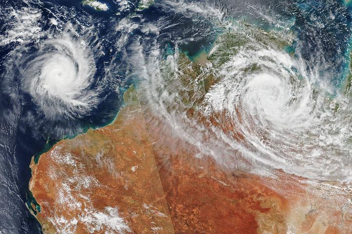 Cyclones over Australia