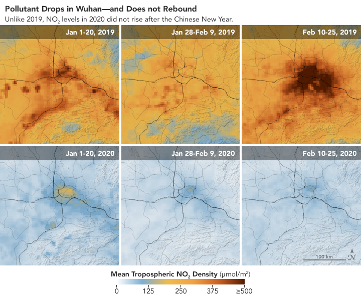 Airborne Nitrogen Dioxide Plummets Over China - related image preview