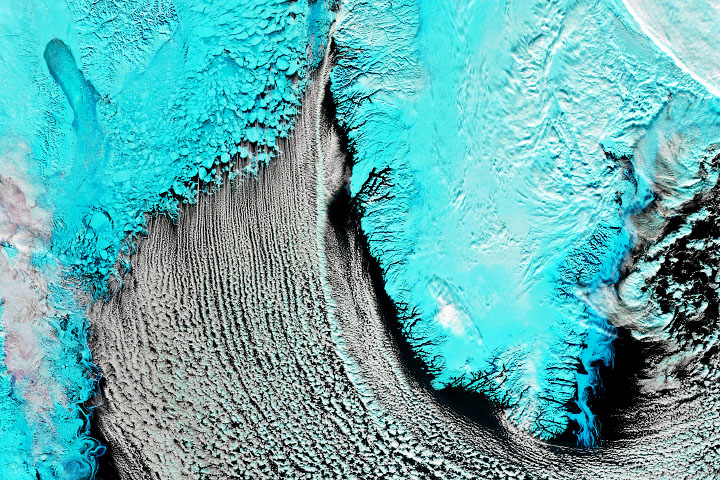 Cloud Streets Over the Labrador Sea
