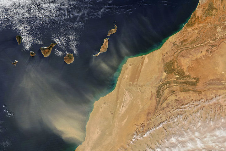 More Dust Blows Out from North Africa