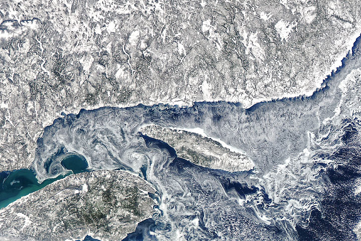 Ice Eddies in the Gulf of St. Lawrence - selected image