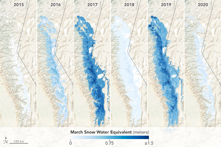 Thin Snow Cover in the Sierra Nevada - related image preview