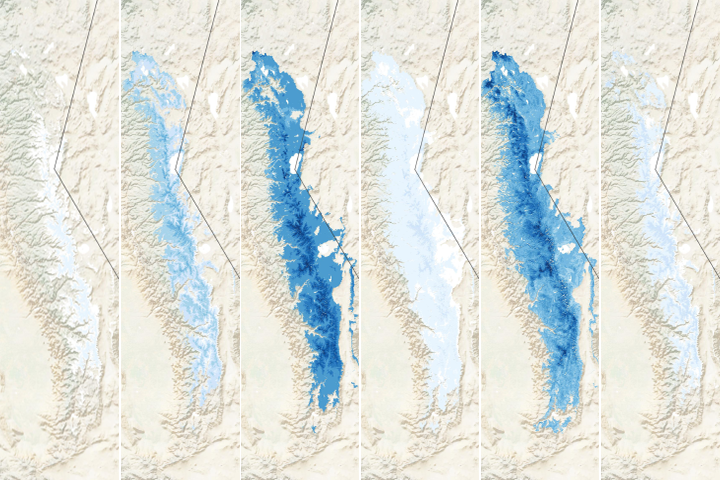 Thin Snow Cover in the Sierra Nevada - selected image