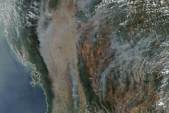 Smoke Blankets Thailand and Burma (Myanmar) - selected image