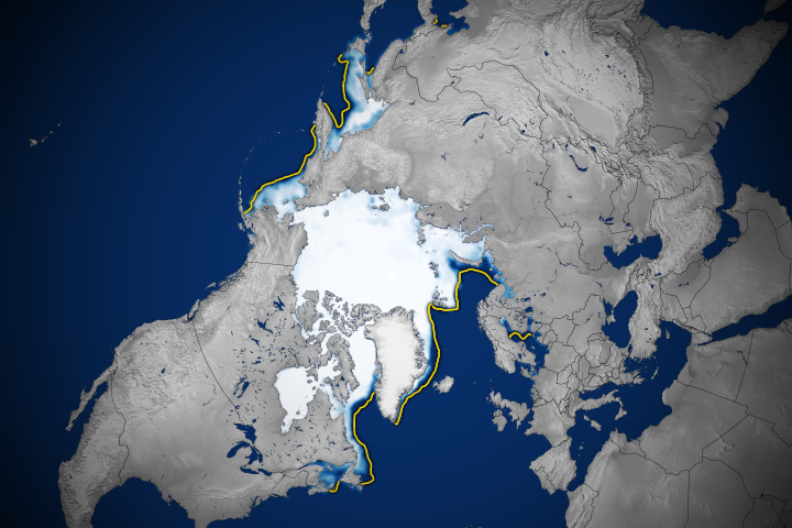 Sea Ice Below Normal Despite a Seasonal Bump - selected image