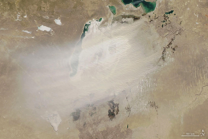 A Dusty Day Over the Aral Sea - related image preview
