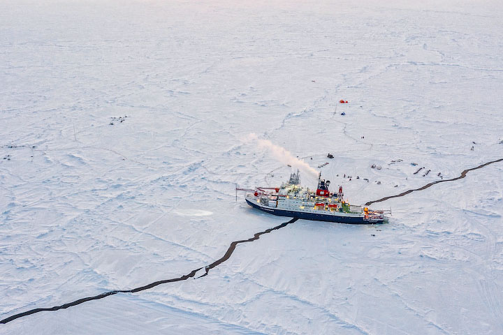 Drifting With Broken Sea Ice