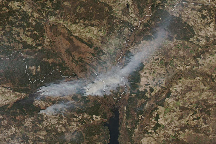 Fires Burn in Northern Ukraine