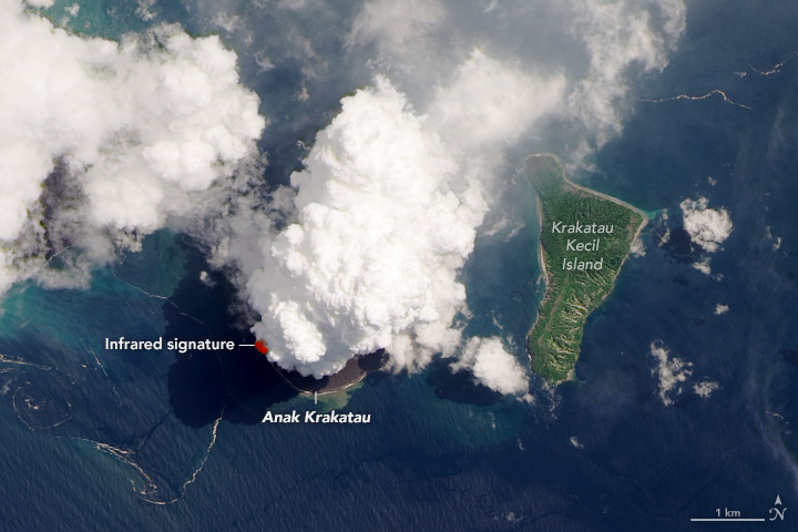 Violent Puffs from Krakatau