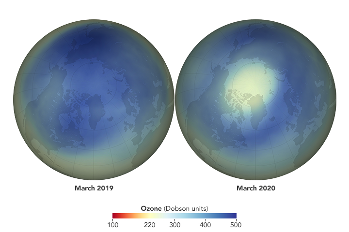 Unusual Weather Leads to Ozone Low Over the Arctic