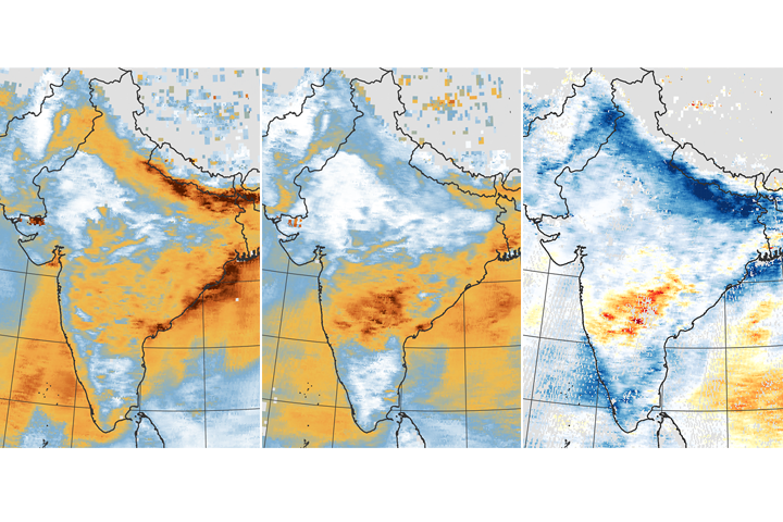 Airborne Particle Levels Plummet in Northern India - selected image