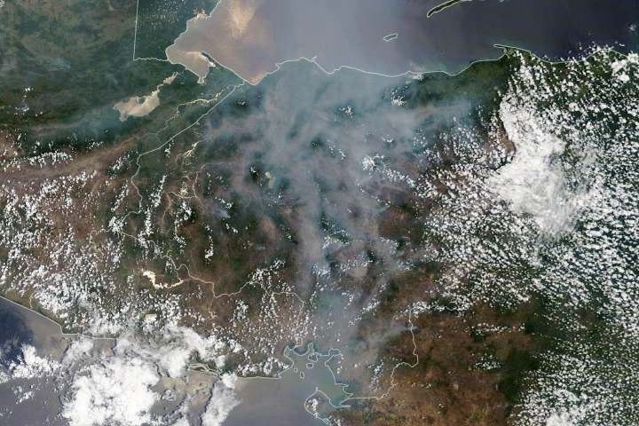 Smoke Hangs Over Honduras - selected image