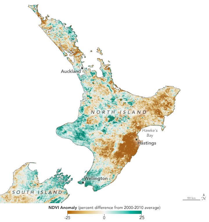 New Zealand Browned by Drought - related image preview