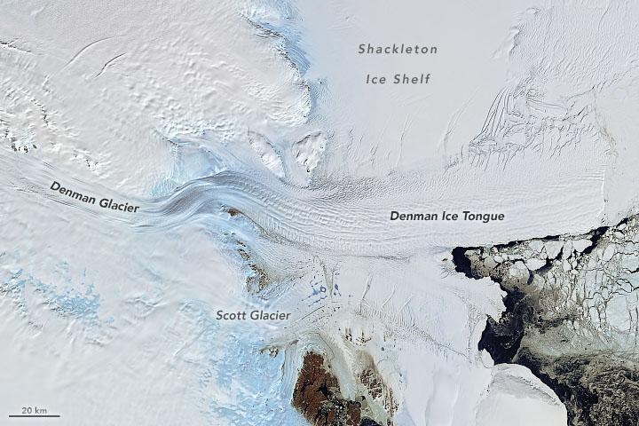 Denman Glacier Losing Some of Its Footing