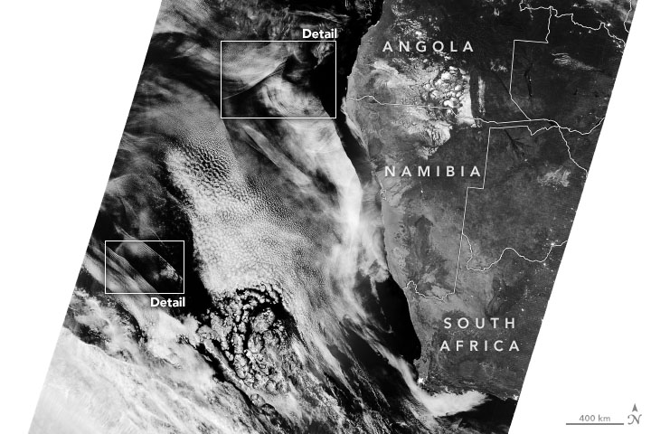 Nighttime Waves Over the South Atlantic - related image preview