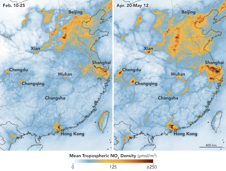 Nitrogen Dioxide Levels Rebound in China - related image preview