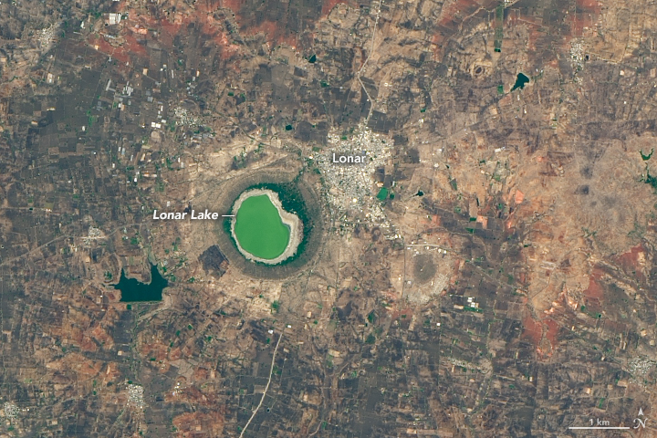 Lonar Lake Tries On a Rosy Color - related image preview
