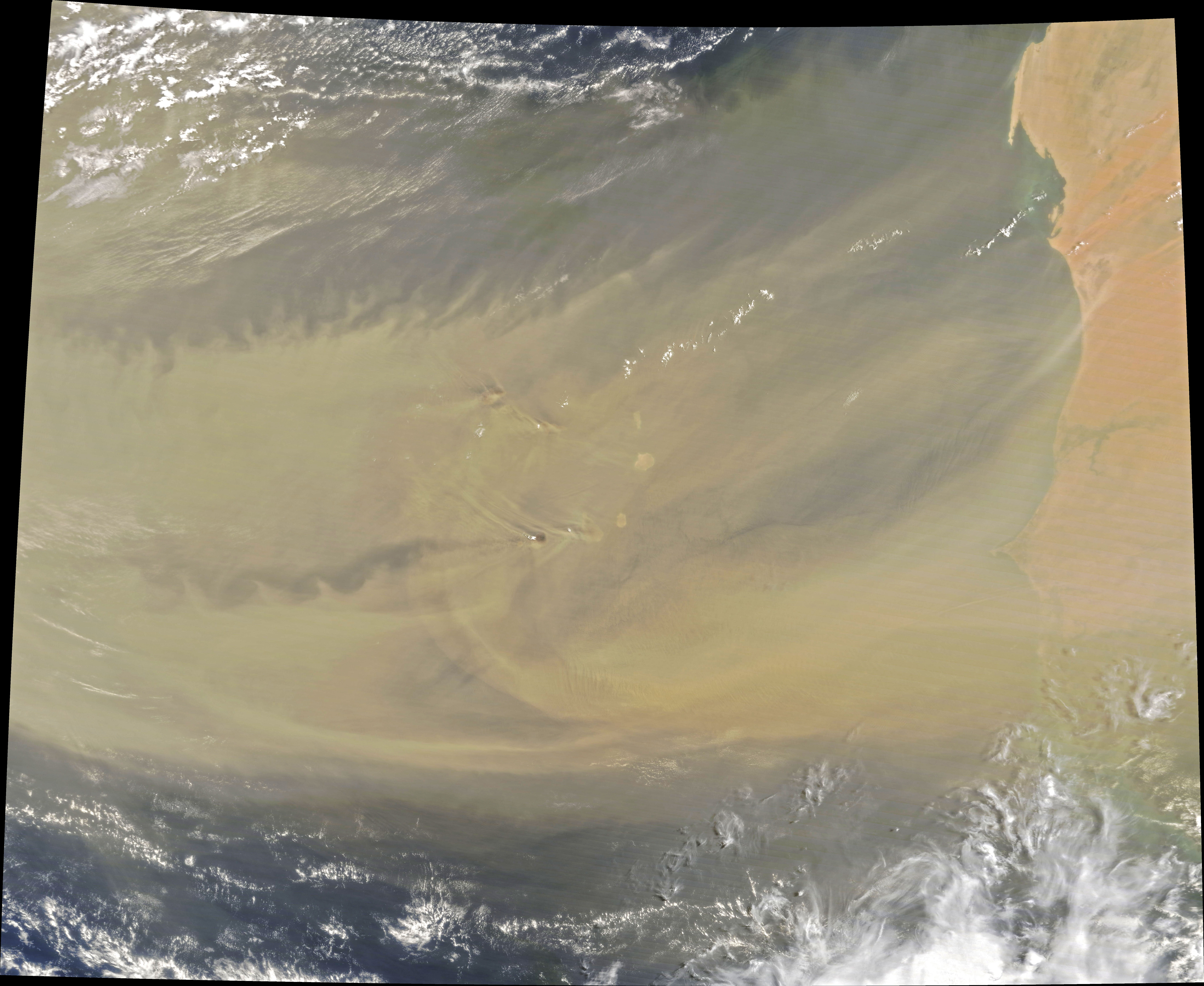 Dust Traverses the Atlantic Ocean - related image preview
