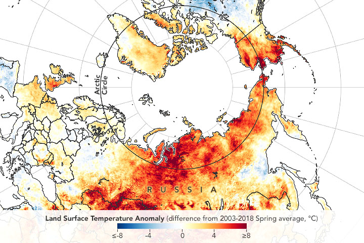 Heat and Fire Scorches Siberia - related image preview