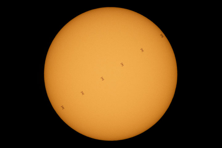 Space Station Sails Across the Sun - related image preview