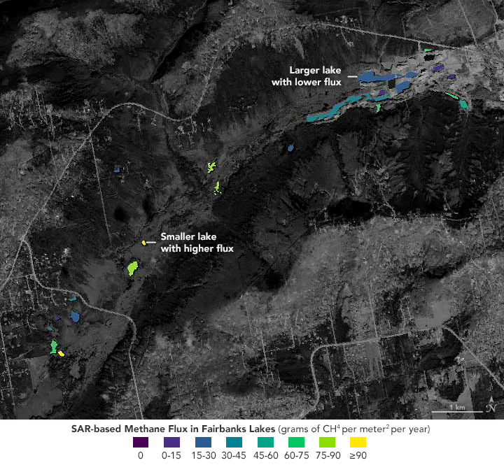 Satellites Size Up Bubbles of Methane in Lake Ice - related image preview
