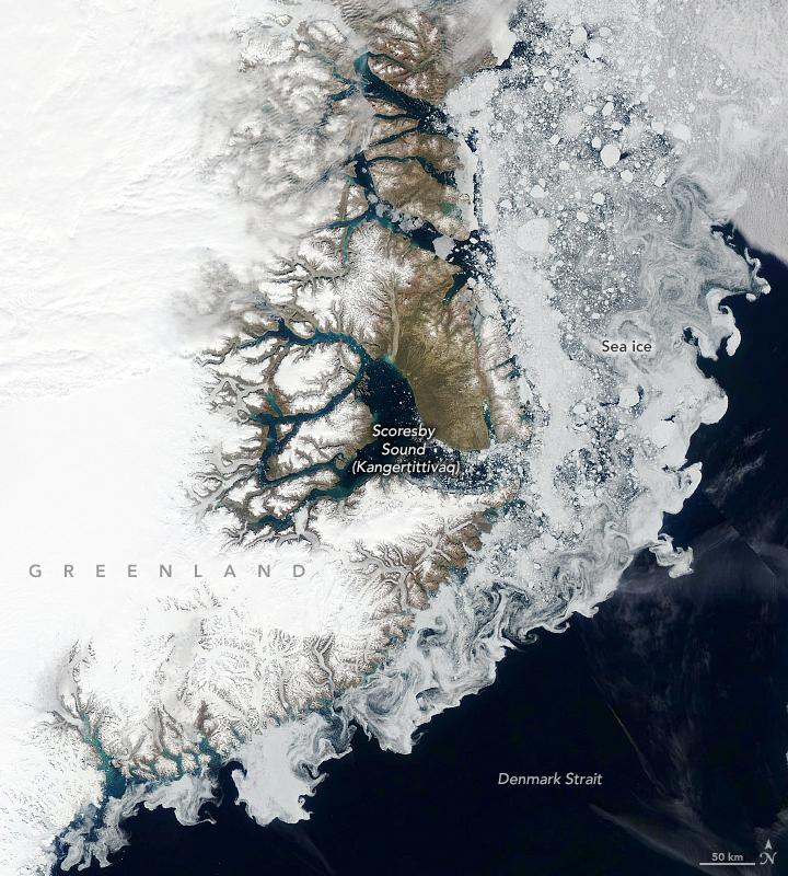 Sea Ice in Denmark Strait