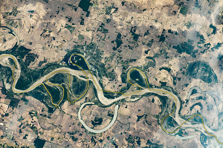 Meandering Mississippi River