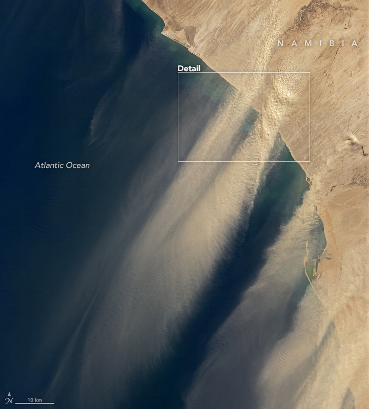 Dust Streams from the Namibian Coast