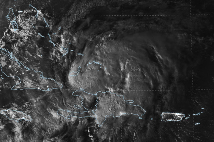 Hurricane Isaias Moves Over the Caribbean - selected image