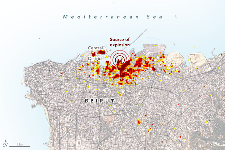 Scientists Map Beirut Blast Damage
