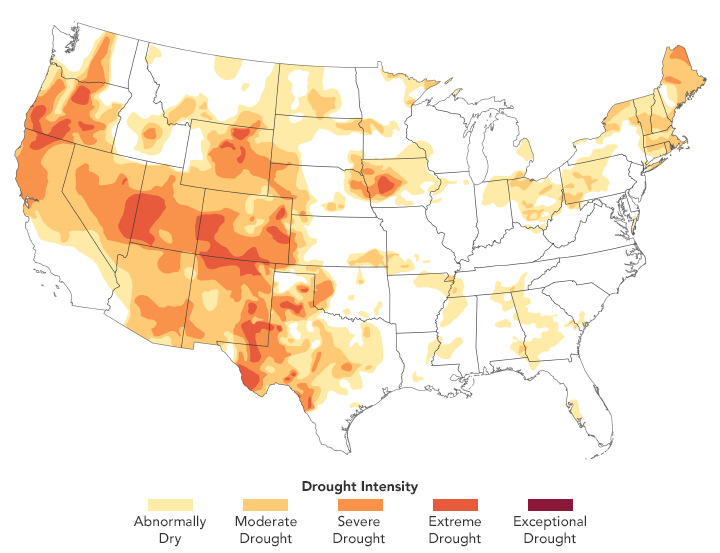 A Third of the U.S. Faces Drought