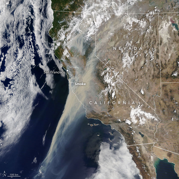 Thick Smoke Obscures California Skies - related image preview
