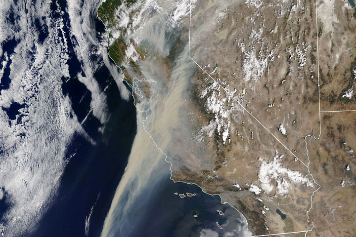 Thick Smoke Obscures California Skies