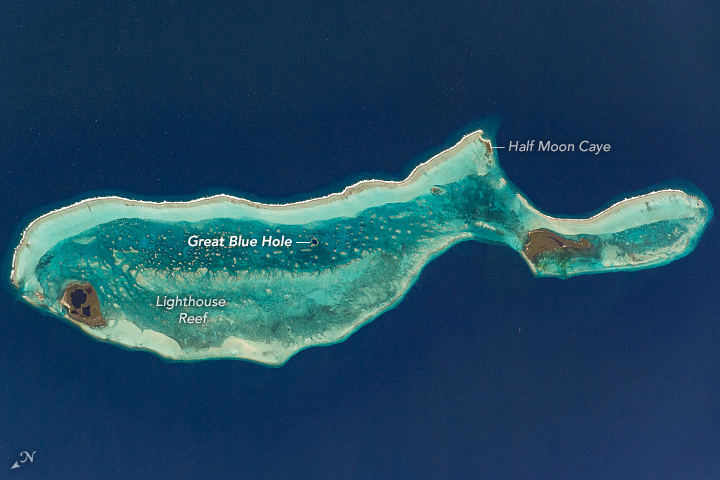 Lighthouse Reef and the Great Blue Hole - related image preview