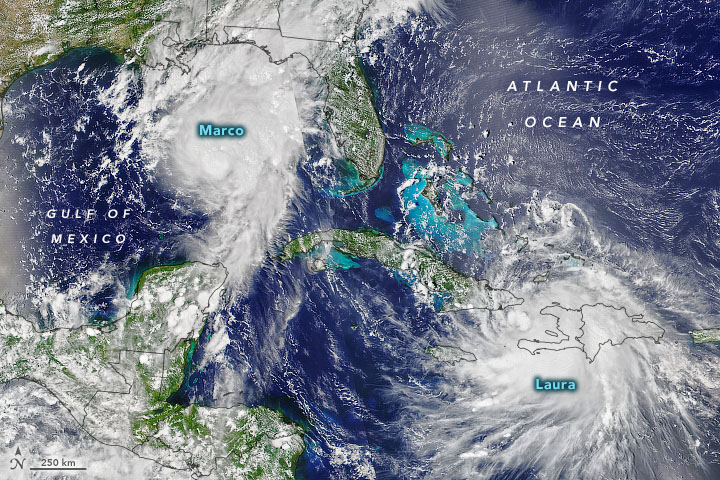 U.S. Gulf Coast Braces for Marco and Laura