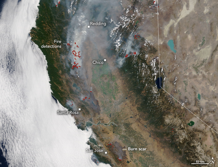 August Fires Leave Vast Burn Scars in California - related image preview