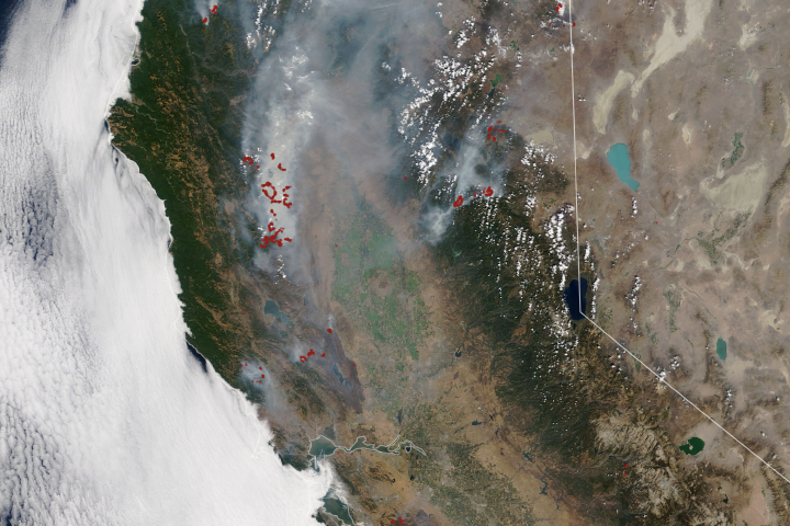 August Fires Leave Vast Burn Scars in California - selected image