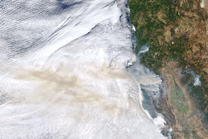 Smoke Blows Over the Pacific - selected image