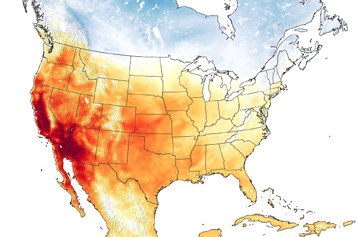 California Heatwave Fits a Trend
