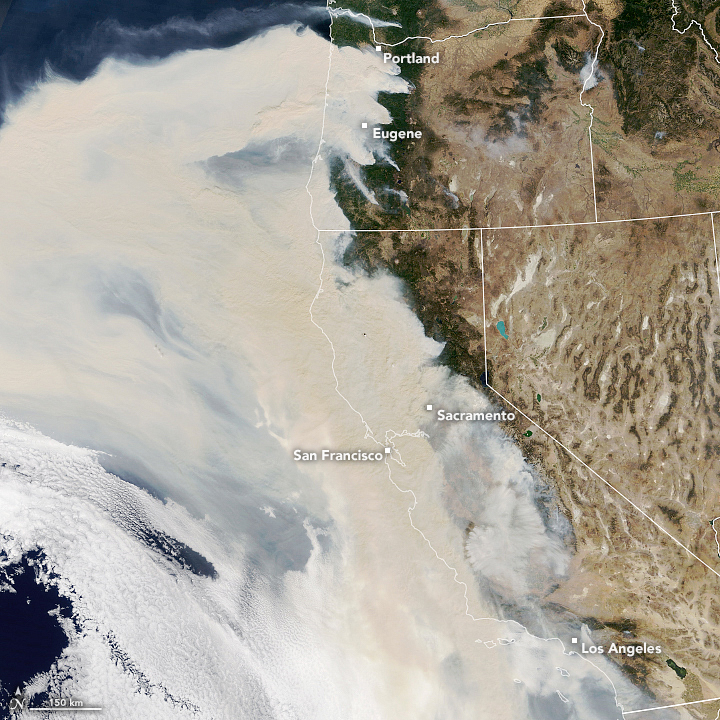 A Wall of Smoke on the U.S. West Coast - related image preview