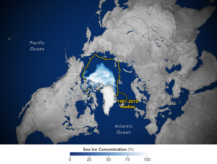 Arctic Sea Ice Reaches Second-Lowest Extent